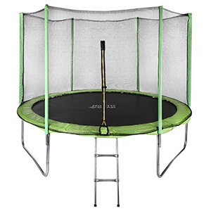 North Gear 10 Foot Trampoline Set